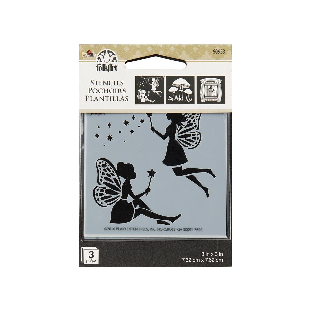 FolkArt ® Painting Stencils - Mini - Fairies & Mushrooms