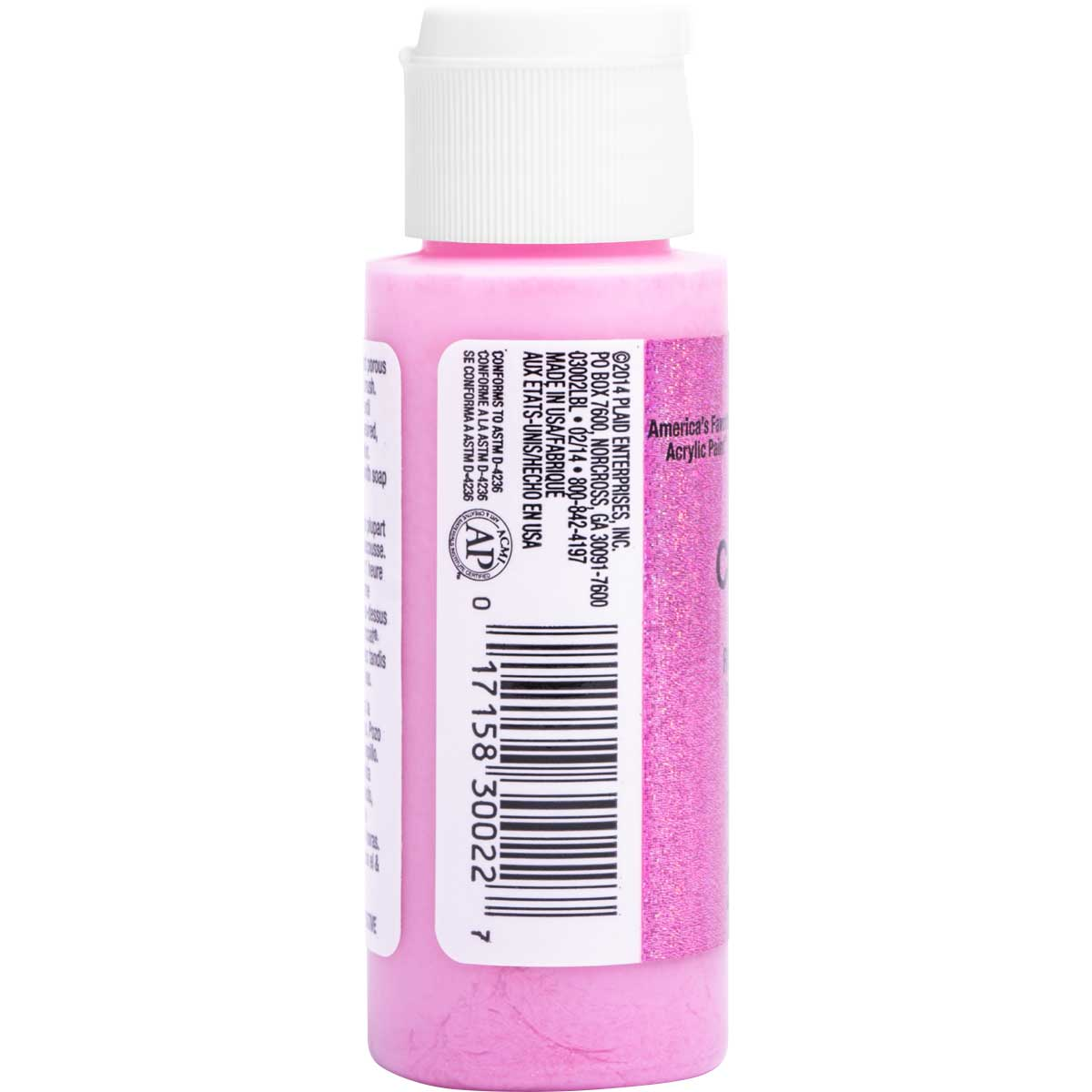 Delta Ceramcoat ® Acrylic Paint - Glitter Pink, 2 oz.