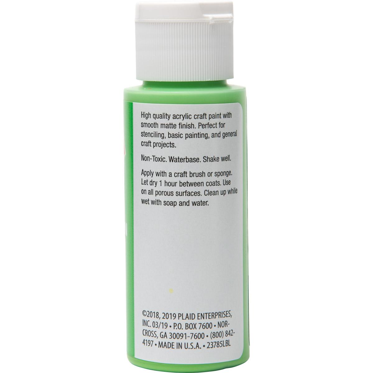 Plaid ® Painter's Palette™ Acrylic Paint - Bright Green, 2 oz.
