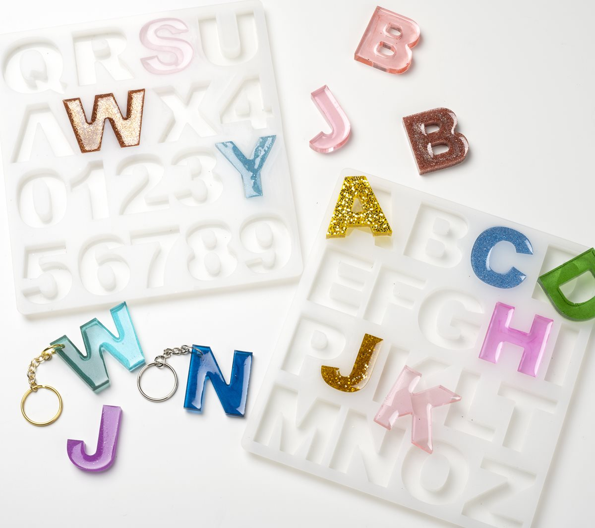 Mod Podge Resin Alphabet Mold Projects