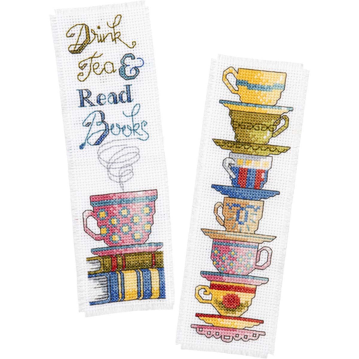Bucilla ® Counted Cross Stitch - Bookmarks - Drink Tea - 47921E