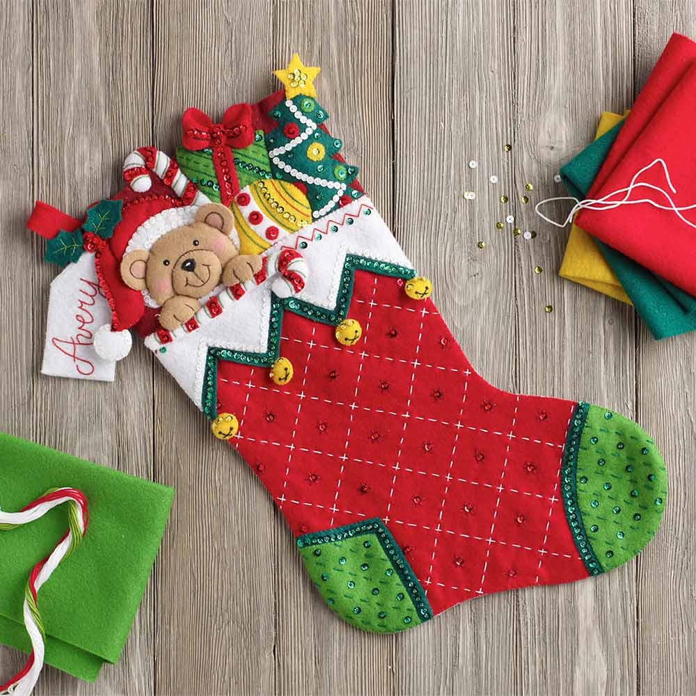 Bucilla ® Seasonal - Felt - Stocking Kits - Holiday Teddy