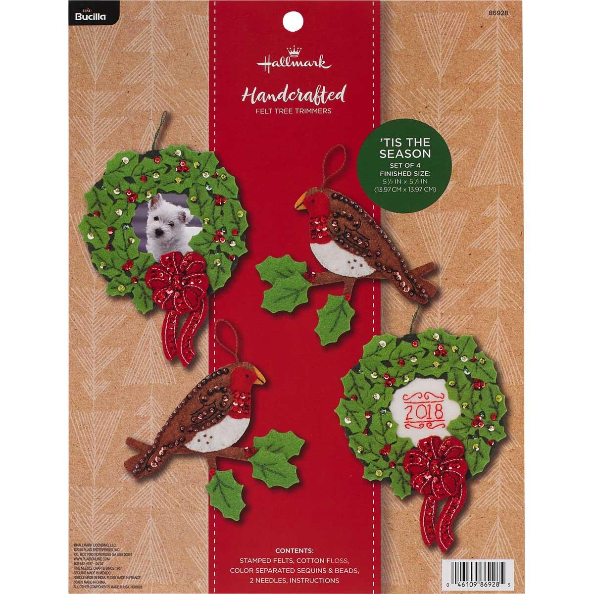 Bucilla Seasonal Felt Tree Trimmer Kit - Hallmark - 'Tis the Season