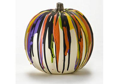 Color Drip Pumpkin with FolkArt Acrylics