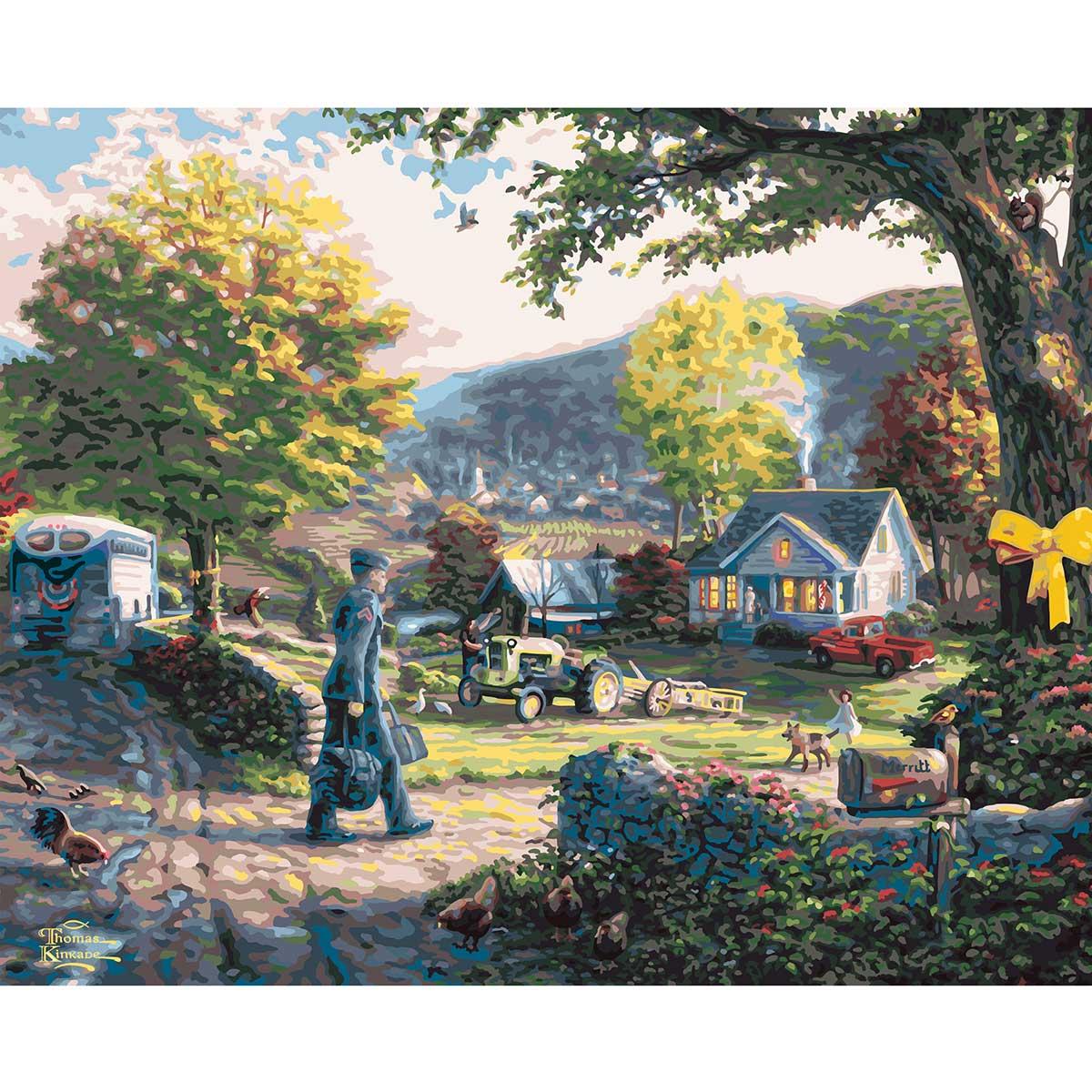 Plaid ® Paint by Number - Thomas Kinkade™ - Homecoming Hero