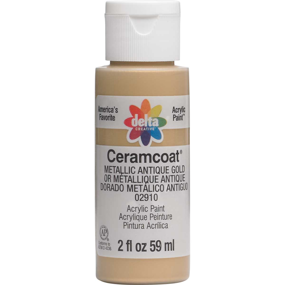 Delta Ceramcoat ® Acrylic Paint - Metallic Antique Gold, 2 oz.