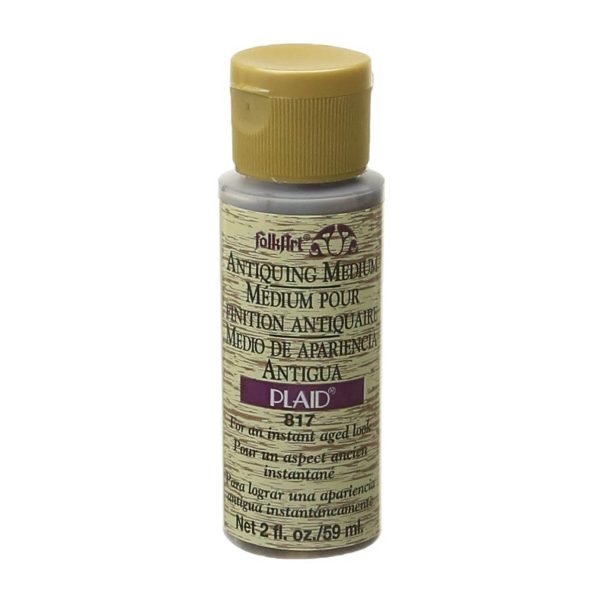 FolkArt ® Mediums - Antiquing Medium - Woodn' Bucket Brown, 2 oz. - 817