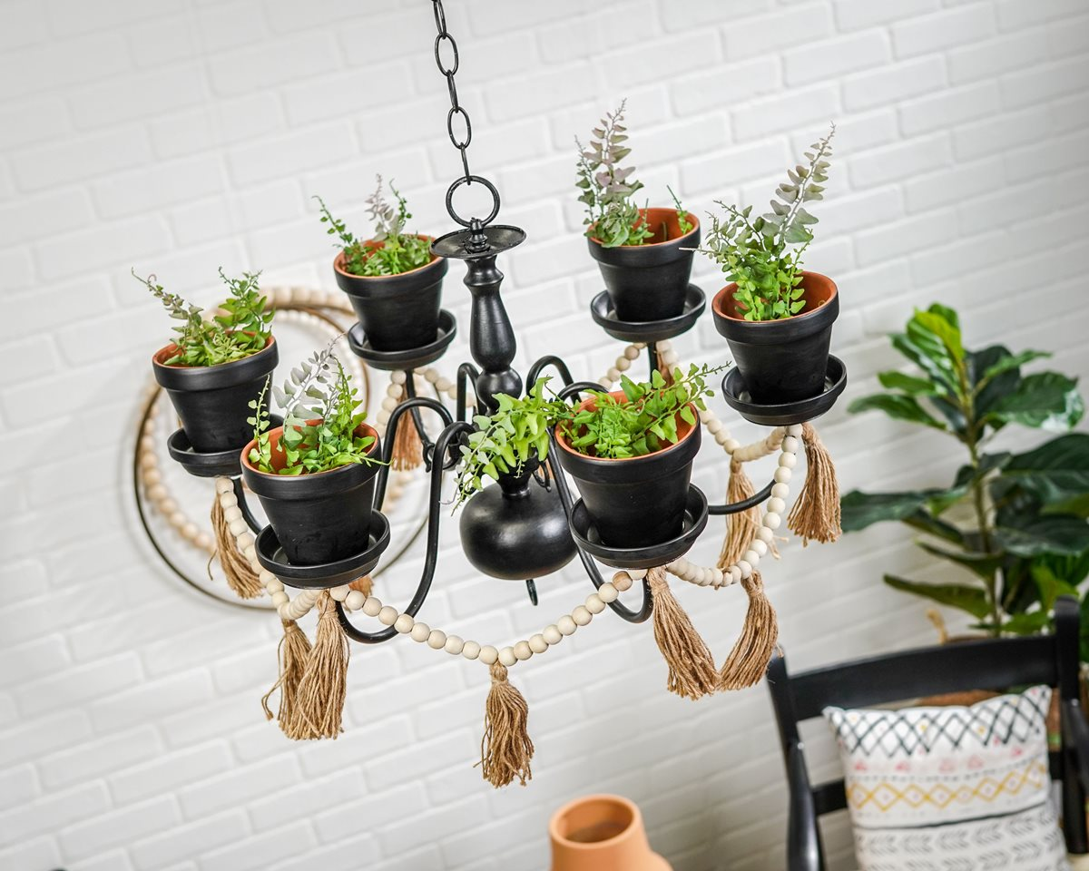 Upcycled Outdoor Chandelier