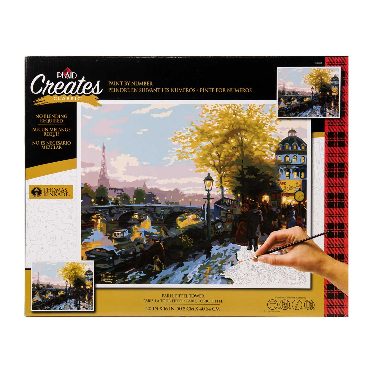 Plaid ® Paint by Number - Thomas Kinkade™ - Paris, Eiffel Tower