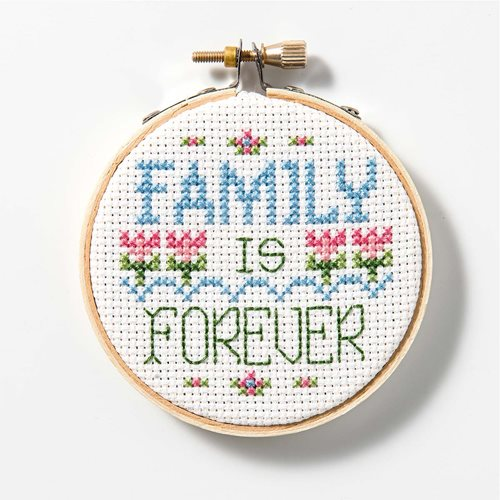 Free Counted Cross Stitch Pattern - Family is Forever