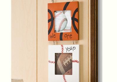 Sports Theme Triple Frame