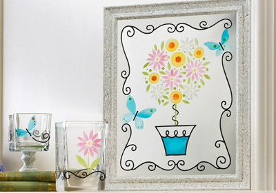 Spring Topiary Art and Vases