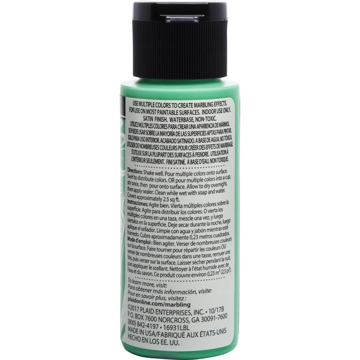FolkArt ® Marbling Paint - Green, 2 oz.