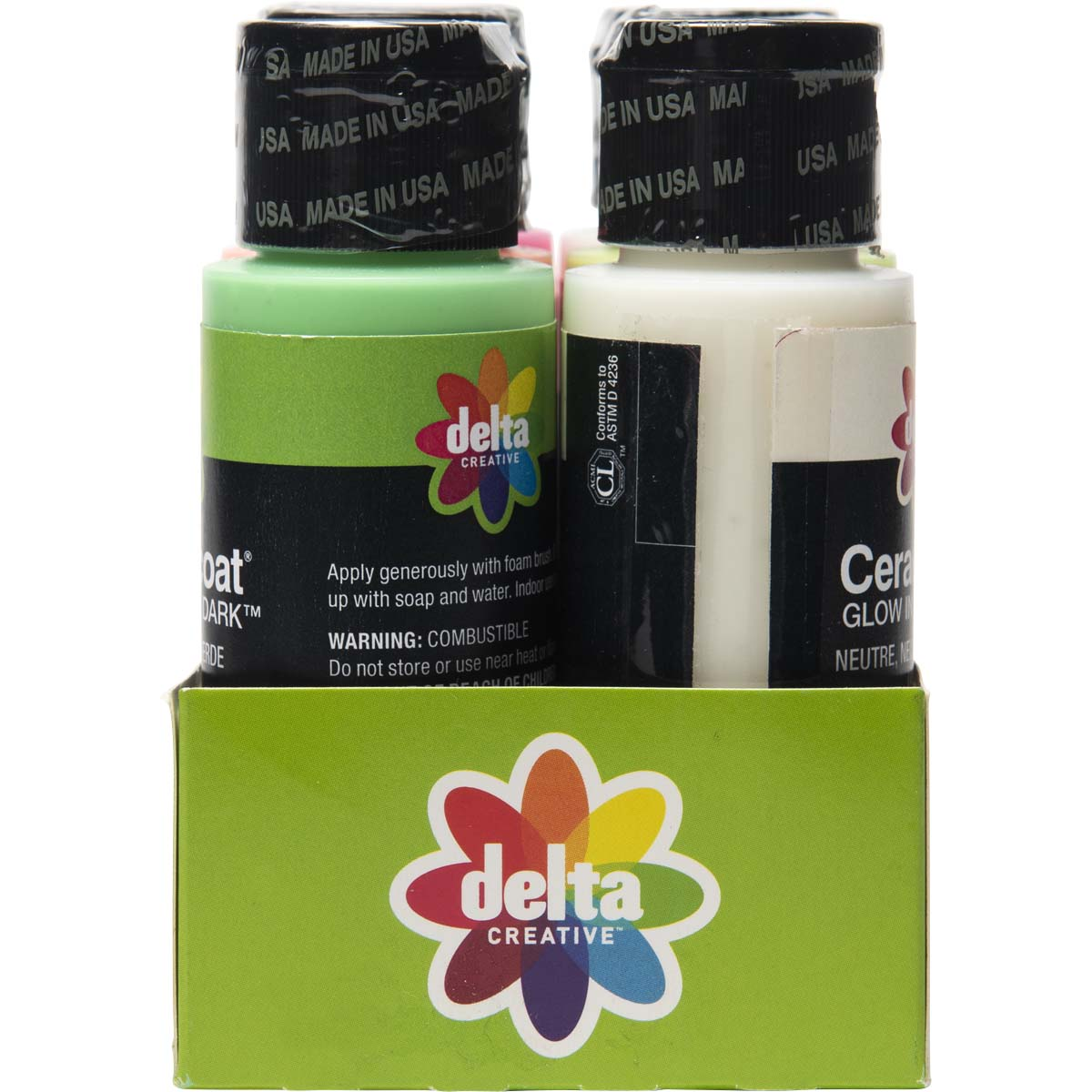 Delta Ceramcoat ® Paint Sets - Glow-in-the-Dark™, 6 Colors - 03147