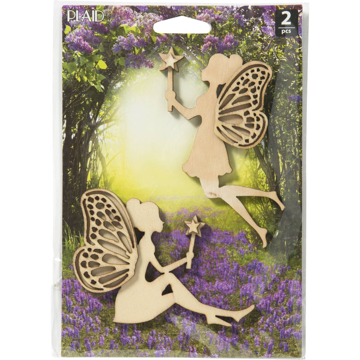 Plaid ® Wood Surfaces - Fairy Garden - Fairies 2 pc.