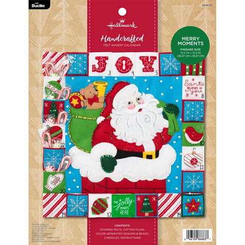 Bucilla Seasonal Felt - Advent Calendar Kit - Hallmark - Merry Moments