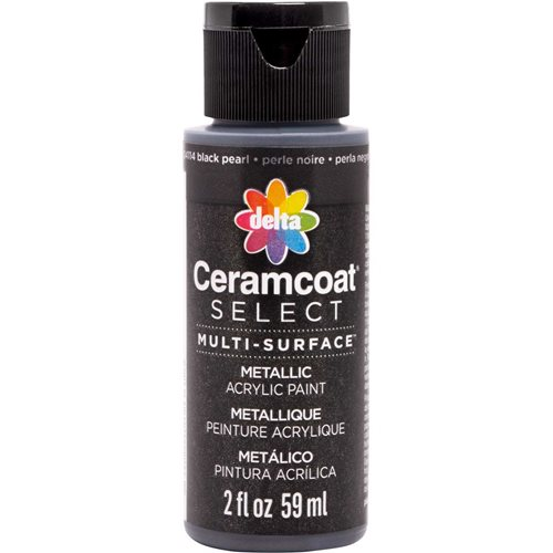 Delta Ceramcoat ® Select Multi-Surface Acrylic Paint - Metallic - Black Pearl, 2 oz.