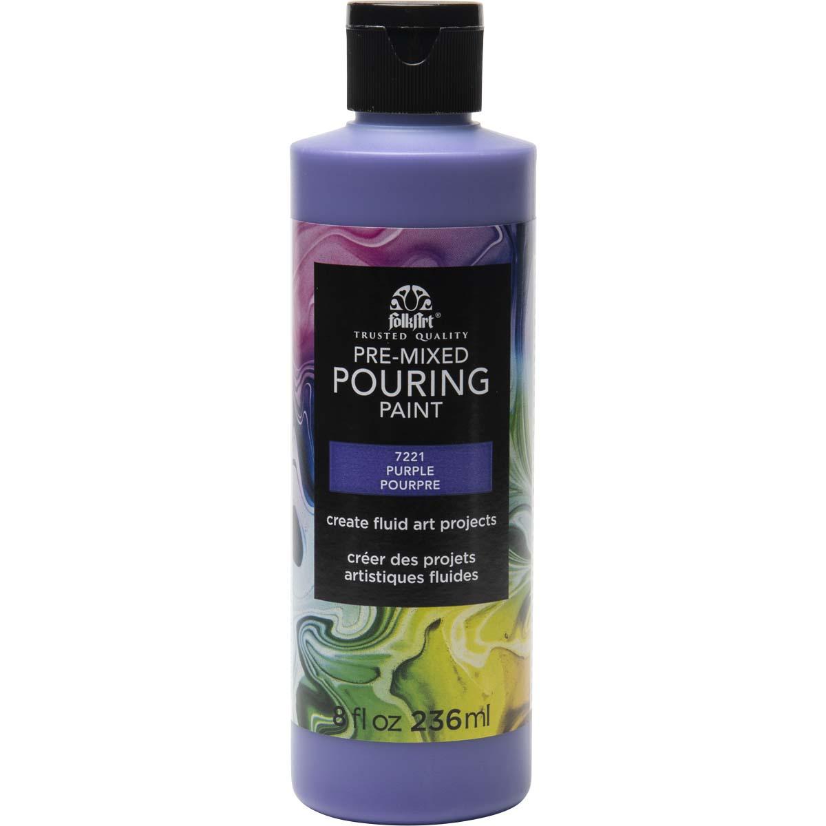 FolkArt ® Pre-mixed Pouring Paint - Purple, 8 oz.