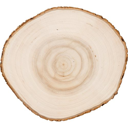 Plaid ® Wood Surfaces - Wood Round with Bark, 9""