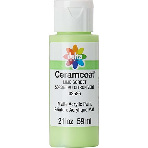 Delta Ceramcoat ® Acrylic Paint - Lime Sorbet, 2 oz.