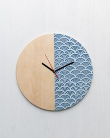 Stenciled Wall Clock