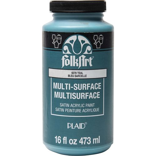 FolkArt ® Multi-Surface Satin Acrylic Paints - Teal, 16 oz. - 6378