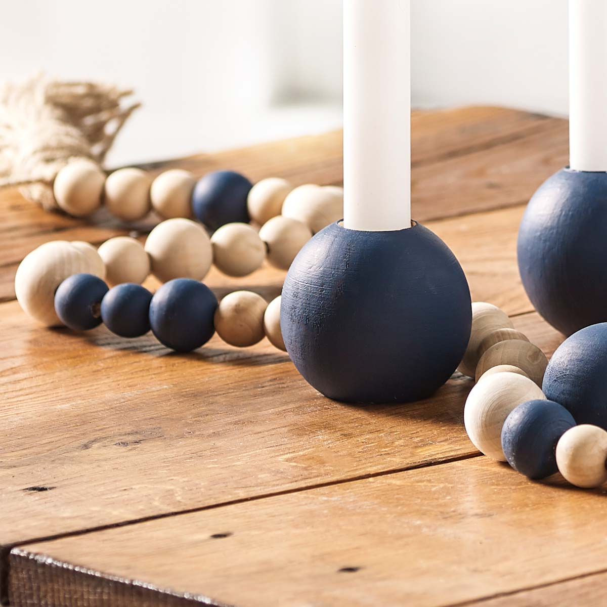 DIY Painted Candleholders & Centerpiece Idea