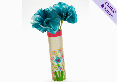 Tween Storage Vase and Coffee Filter Flowers