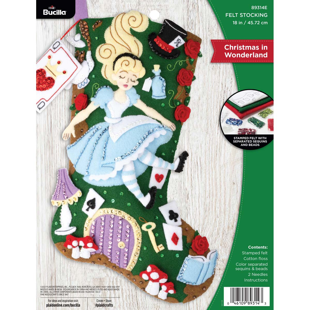 Bucilla ® Seasonal - Felt - Stocking Kits - Christmas in Wonderland - 89314E