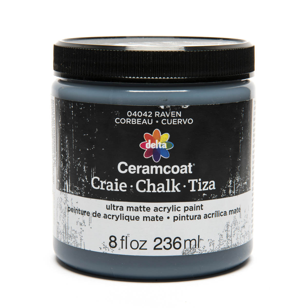 Delta Ceramcoat ® Chalk - Raven, 8 oz. - 04042