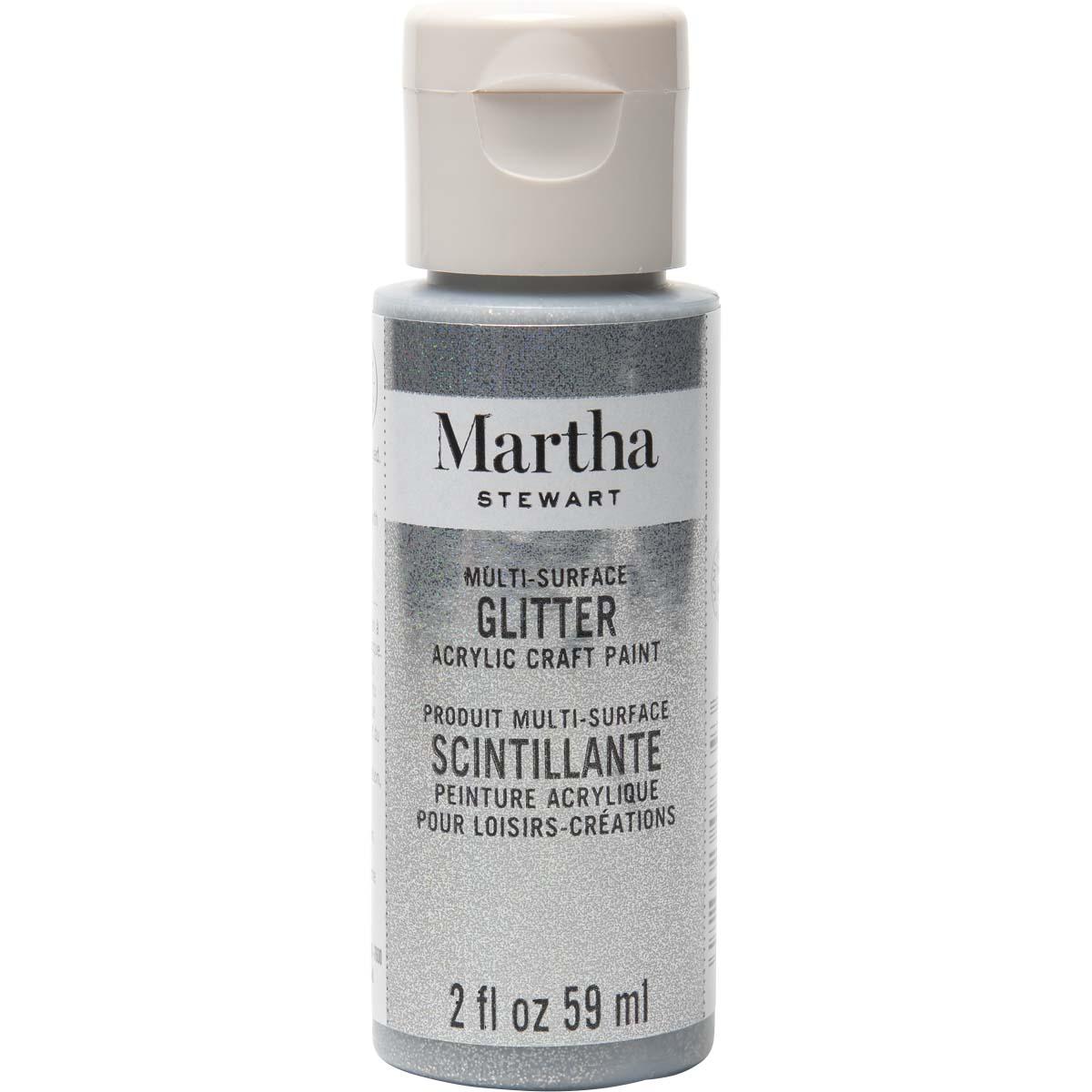 Martha Stewart® 2oz Multi-Surface Glitter Acrylic Craft Paint - Sterling