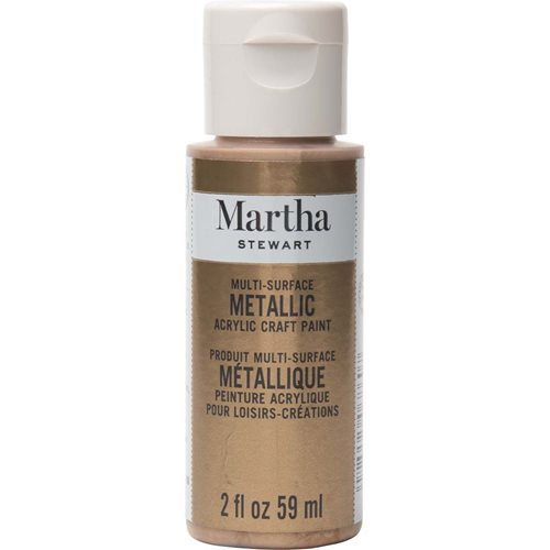 Martha Stewart ® Multi-Surface Metallic Acrylic Craft Paint - Rose Gold, 2 oz. - 33001CA