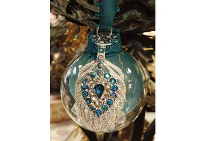 Sparkling Peacock Ornament