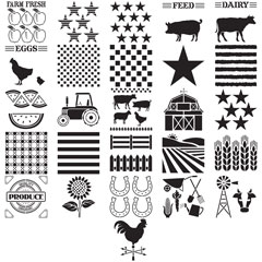 FolkArt ® Stencil Value Packs - Farm Life, 12