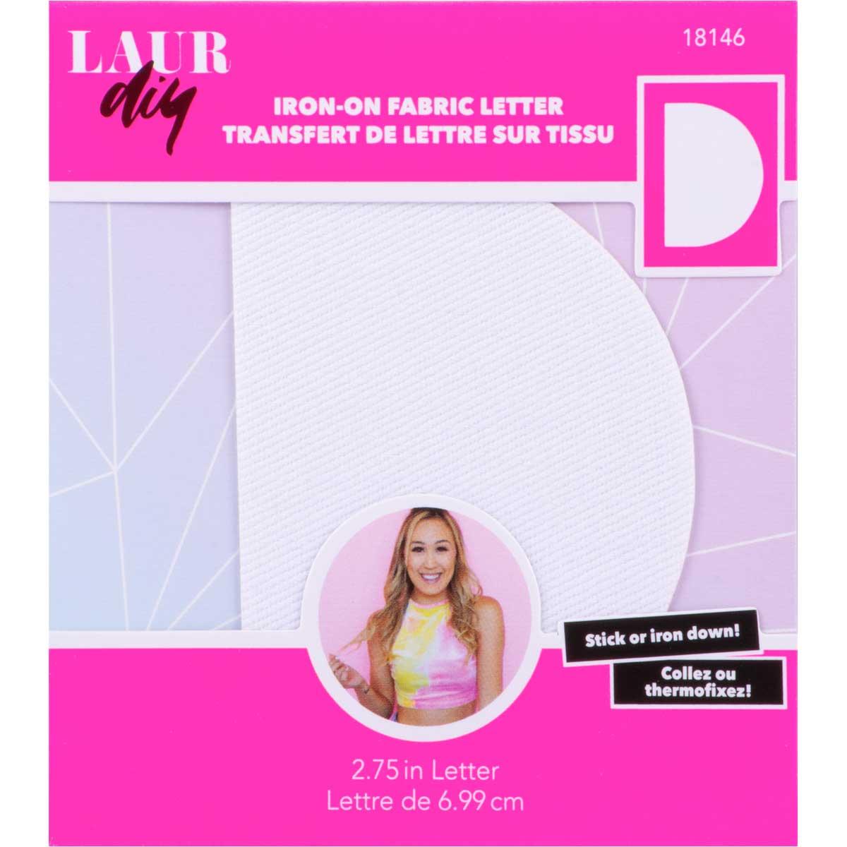 LaurDIY ® Iron-on Fabric Letters - D