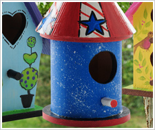 Stars and Stripes Mini Birdhouse