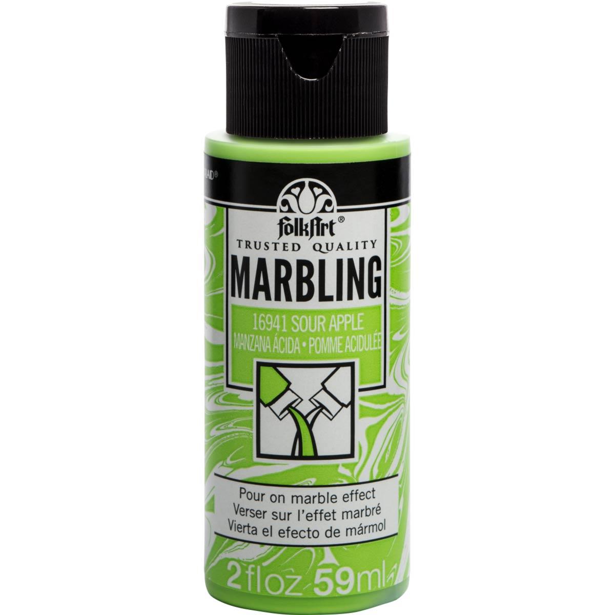 FolkArt ® Marbling Paint - Sour Apple, 2 oz. - 16941