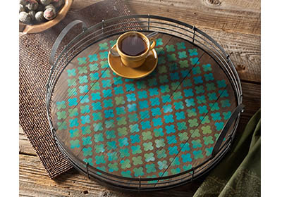 Moorish Patterned Serving Tray