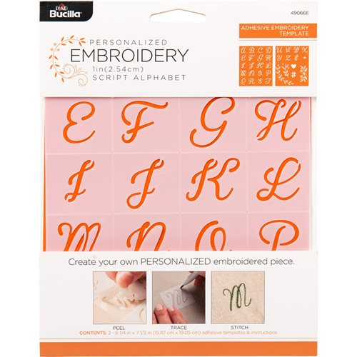Bucilla ® Lettering and Monogramming Template Kit - Alphabet Script - 49066E