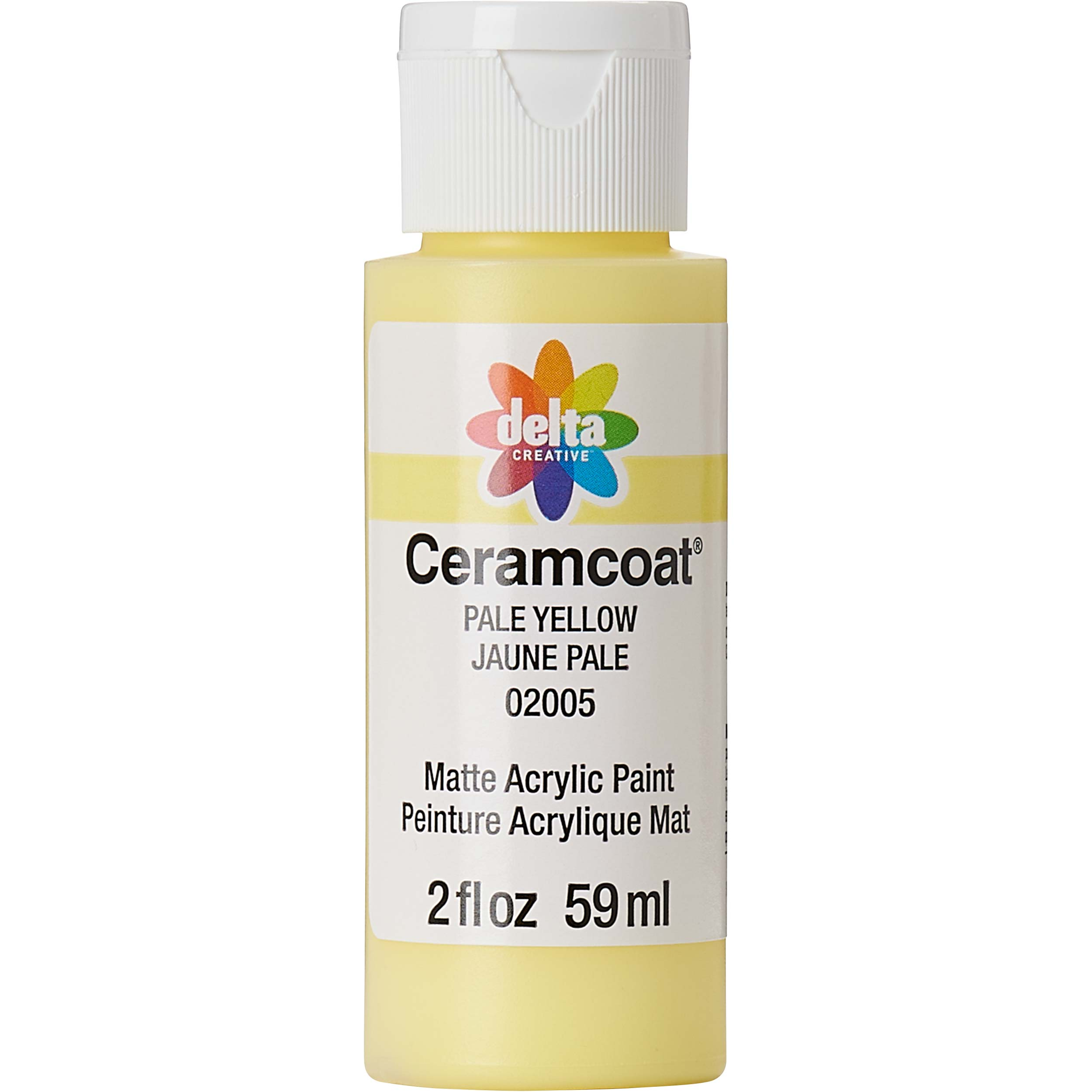 Delta Ceramcoat ® Acrylic Paint - Pale Yellow, 2 oz.