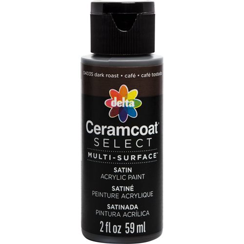 Delta Ceramcoat ® Select Multi-Surface Acrylic Paint - Satin - Dark Roast, 2 oz. - 04035