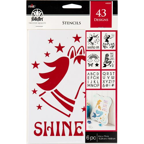 "FolkArt ® Stencil Value Packs - Fantasy, 6"" x 7-3/4"" - 44923E"