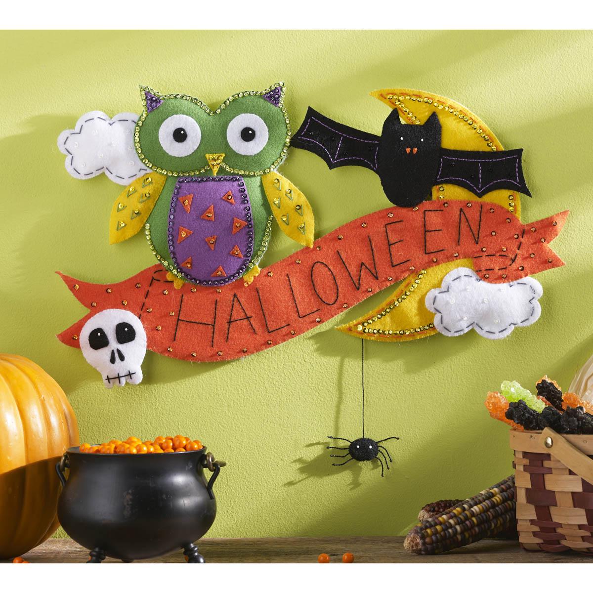 Bucilla ® Seasonal - Felt - Home Decor - Door/Wall Hanging Kits - Halloween Owl