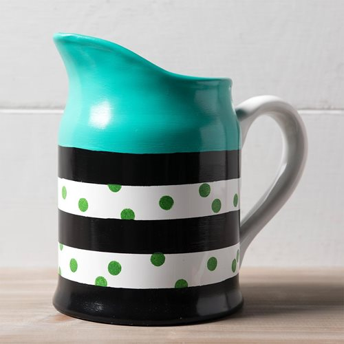 Striped Enamel Pitcher