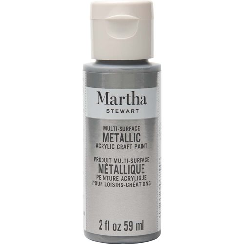 Martha Stewart ® Multi-Surface Metallic Acrylic Craft Paint - Titanium, 2 oz. - 32993CA