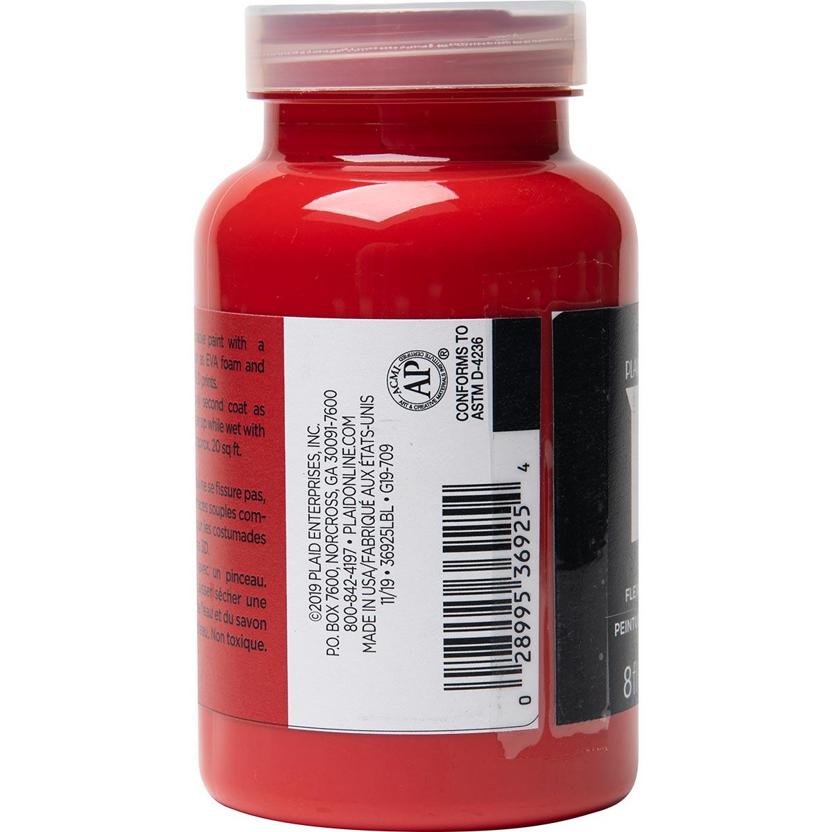PlaidFX Smooth Satin Flexible Acrylic Paint - Pyro, 8 oz. - 36925
