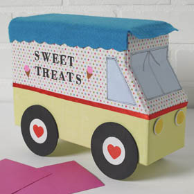 Box Idea for Valentines - Ice Cream Truck