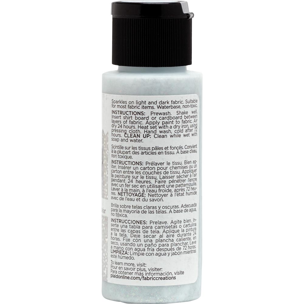 Fabric Creations™ Fantasy Glitter™ Fabric Paint - Starlight Silver, 2 oz.