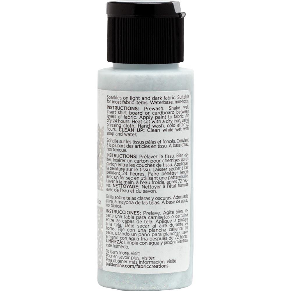 Fabric Creations™ Fantasy Glitter™ Fabric Paint - Starlight Silver, 2 oz. - 26317