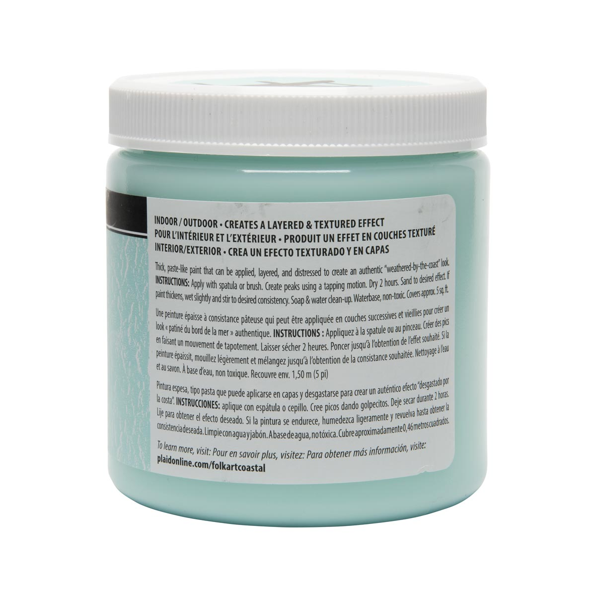 FolkArt ® Coastal™ Texture Paint - Sea Mist, 8 oz.